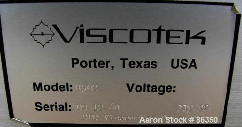 USED- Viscotek GPC Viscometer Detector, Model H502. Designed for the measurement of dilute polymer solutions and is the only...
