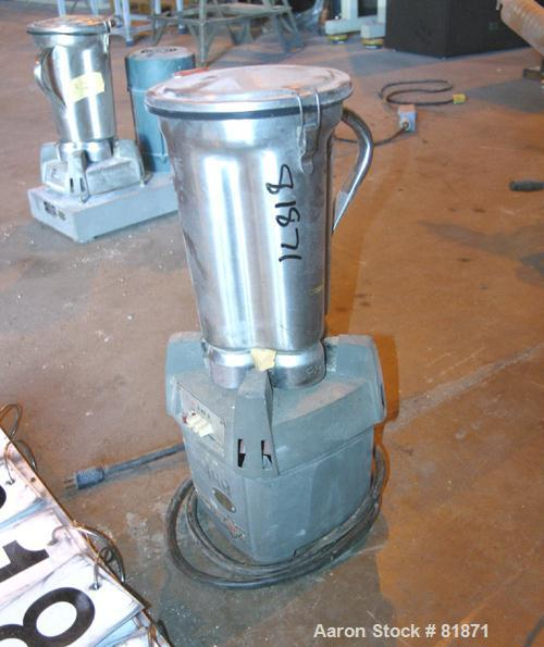USED: Waring commercial 3 speed lab blender, model CB6. (1) 4 liter, 304 stainless steel, mixing container. Driven by an app...
