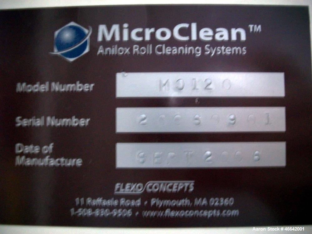 Used- MicroClean Soda Blaster/Anilox Cleaning System.