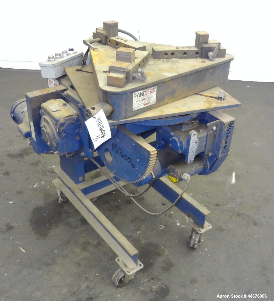"Used- Pandjiris Welding Positioner, Model 15-4. Approximate 1,500 pound capacity 4"" overhung from face of table, swing radiu..."