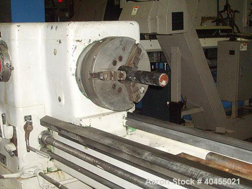 """Used- Sidney 20"""" X 120"""" Heavy Duty Engine Lathe. General Specifications Swings: swing over bed 22 1/2"""", swing over compound ..."""