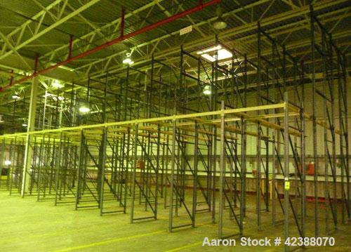 "Used-  (LIFO) Rail Pallet Storage System With  (16) Rows Of 4-Section Deep 10'H & 20'H X 38""W"