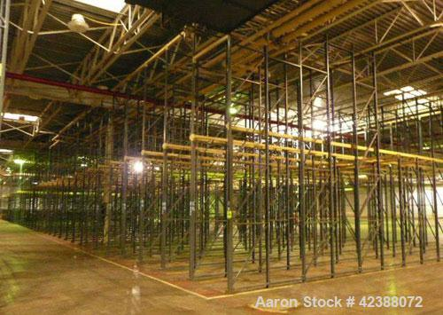 """Used- (LIFO) Rail Pallet Storage System With (41) Rows Of 8-Section Deep 10'H & 20'H X 38""""W"""