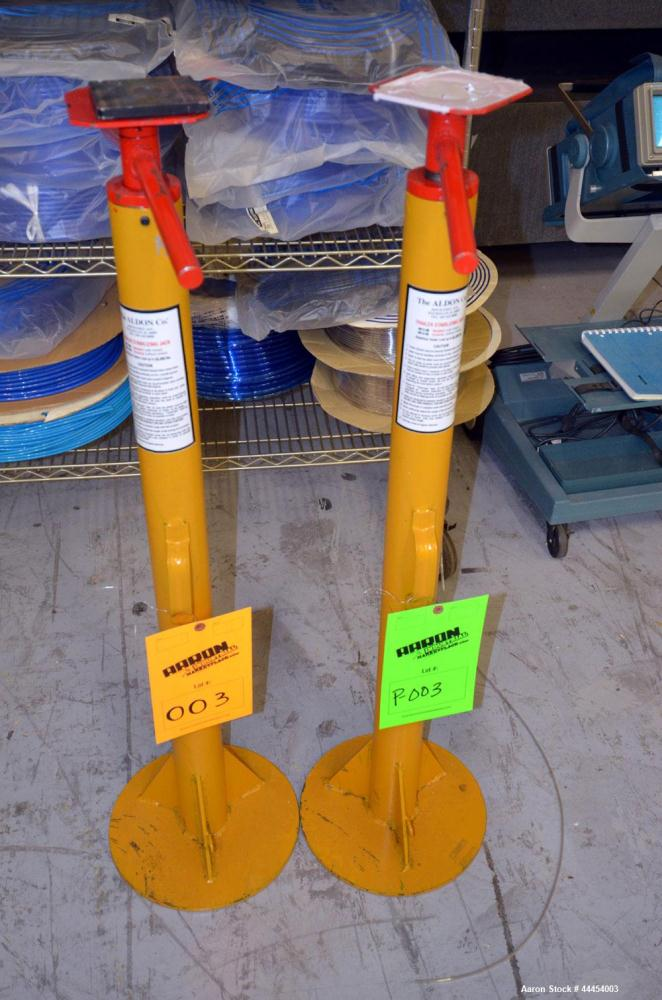 Used-(1) Lot of (2) Aldon Company Trailer Stabilizing Jacks, model 4013-05. Rated up to 50,000# capacity.