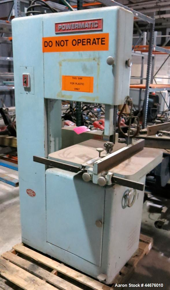 Used-Powermatic Bandsaw, Model # 81, Serial # 081051