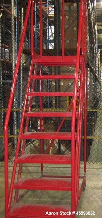 Used-Portable warehouse ladder