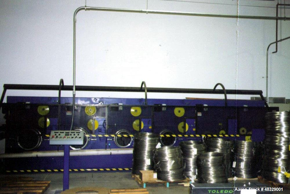Used- Macbee Engineering (5) Spindle Bull Block. Includes: (5) spindle, non-slip, dancer typy continuous draw machine with (...