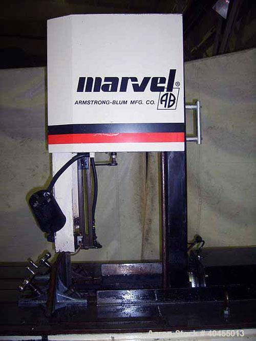 "Used- Marvel vertical band saw, model Mark 8 II. Horizontal capacity: standard column 18"", high column 18"". Vertical capacit..."