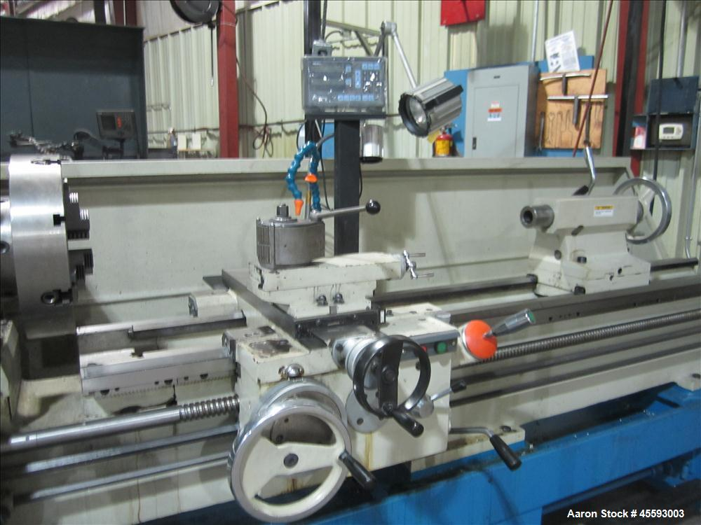 """Used-CY Yunnan model C46250L/2000 gap bed engine lathe, 5"""" spindle bore, four jaw chuck, quick change tool post, Mitutoyo tw..."""