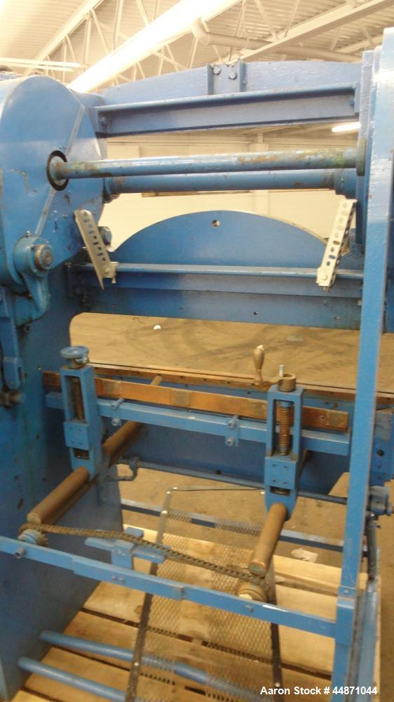 "Used- Chicago Dreis & Krump Mechanical Press Brake, Size 333. Capacity 48"" x 10 gauge, stroke of ram 2"". Includes a 2hp, 3/6..."