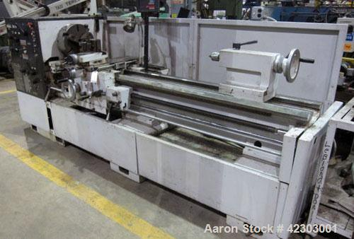 "Used- DoAll Toolroom Engine Lathe, Model 20H. Swing over bed 20"", swing over cross slide 12"", distance between centers 80"", ..."