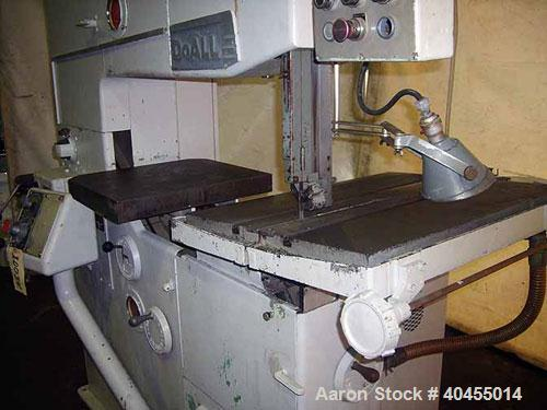 "Used- Do-All Vertical Band Saw, model 3612-3. Throat capacity (band to column) 36"", Wor 12"". Blade width 1/16"" - 1"", blade l..."
