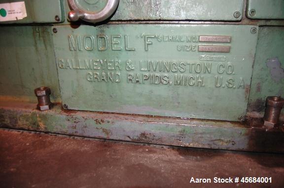 "Used- 24"" x 96"" Gallmeyer & Livingston Horizontal Surface Grinder"