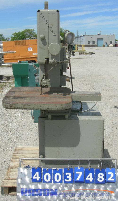 Used- Grob Inc Bandsaw, Type 4V18. 18'' throat depth. 12'' work height.