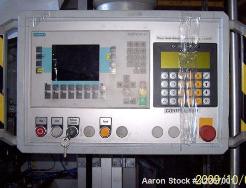 Used-Harro Hofliger Cross Cutter, model PMT 350. Includes air conditioner, compressor, linear positioners, VFd, Plc. 14' lon...