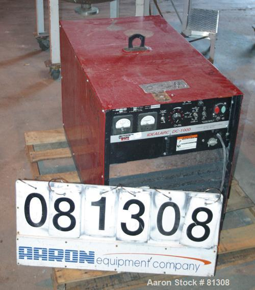 USED: Lincoln Electric DC arc welder, model DC-1000, code #9919M.3/60/230/460 volt.
