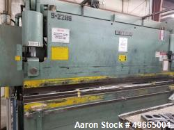 Used- Betenbender Hydraulic Brake, Model 12-190T. 190 ton hydraulic brake. 12 foot bed. CNC control on back gauge. Includes ...