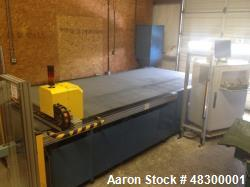 Used- American GFM Model CM-10 Ultrasonic Cutter. Perfect for cutting composites, fabrics, etc. Bed Size 15' x 6'. Actual cu...