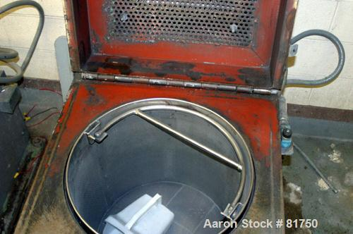 "USED: Parts dryer. 17"" diameter x 17"" deep stainless steel removable mesh basket. Top cover with heating coils."