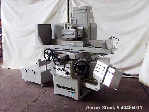 "Used- Okamoto 8"" x 20"" precision surface grinder, model 820A .Longitudinal table travel 25.59"", cross table travel 9.0"". Wor..."