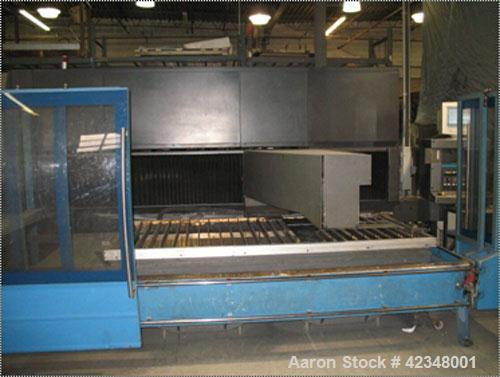 Used-Prima Platino 2200 Watt Laser Cutter, Model 1325. 4' x 8' cutting area, 460V. Primach laser table controller 900L/2D, s...