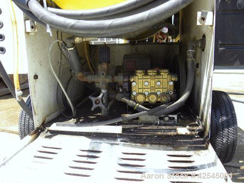 Used- Landa Portable Pressure Washer, Model RHWG3110 21B Diesel. Mounted on wheels.