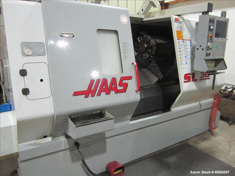 Used-2002 Haas model SL-30 turning centre, CNC controller, 3/60/230 volts, twelve station turret head, s/n 651.77