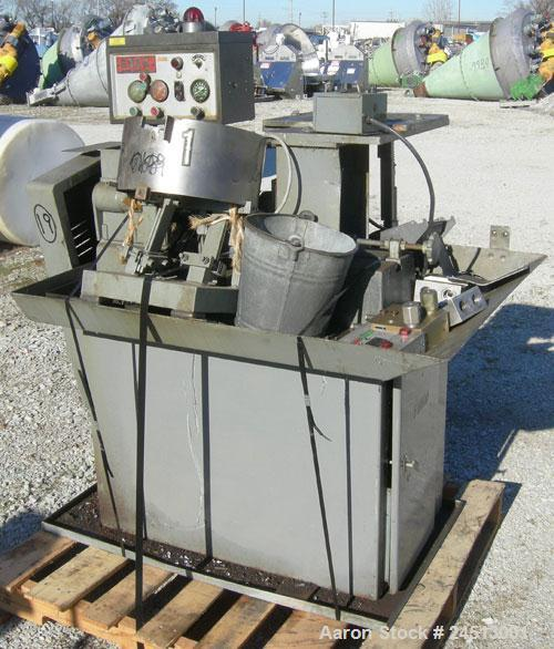 Used- Snow Manufacturing Single/Horizontal Spindle Tapping Machine, Model HT-1-S. With vibratory bowl feed hopper and feed c...