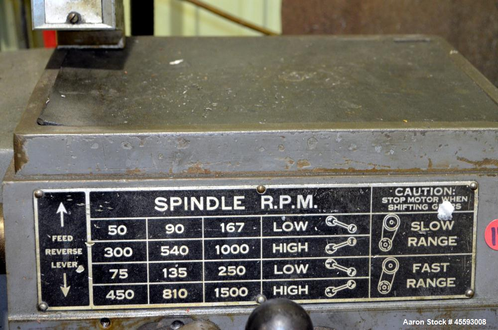 "Used- Standard Morden 12"" x 24"" c.c. bench type engine lathe,  c/w stand & tooling"
