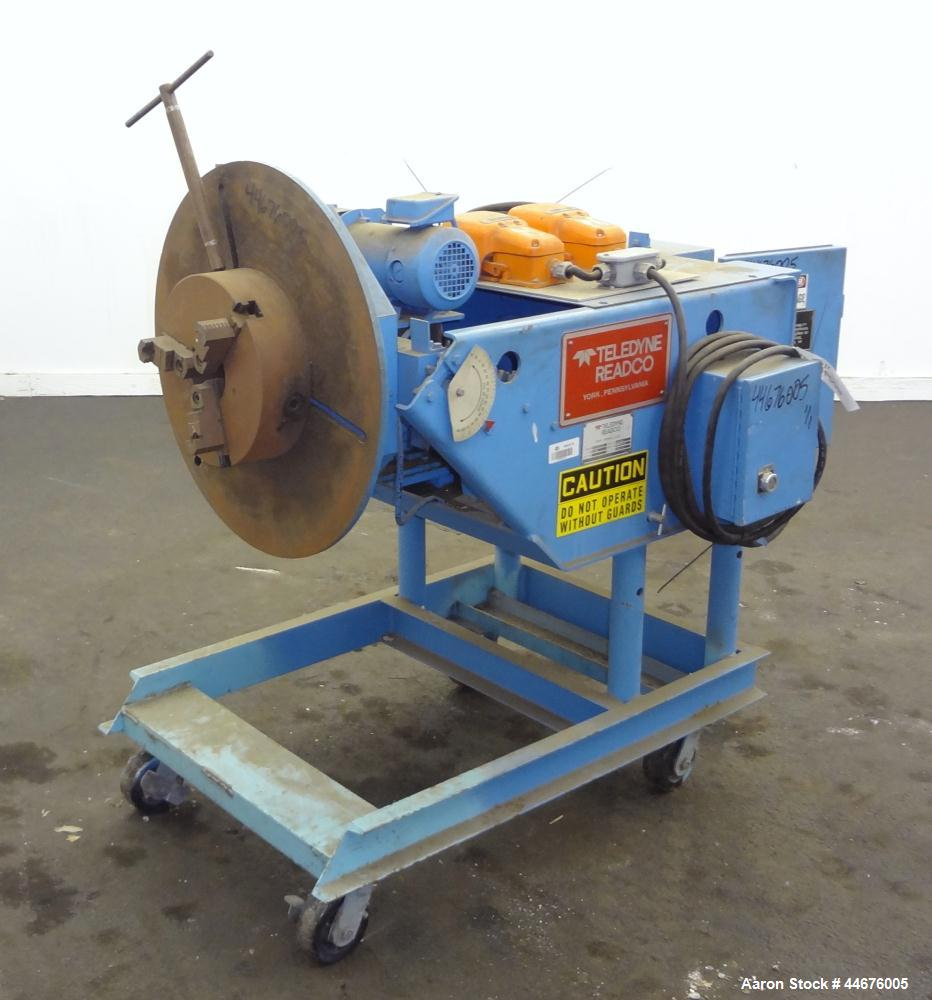 Used- Teledyne Readco Welding Positioner, Model 10, size TPC-10. Approximate 1,000 pound capacity, manual adjustable table, ...