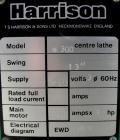 Used- Harrison Center Lathe, model M300.