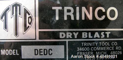 "Used- Trinity Tool Company Dry Blast Sandblast Cabinet, model 48X48SL/DELUXE, carbon steel. 48"" wide x 48"" deep work area. L..."