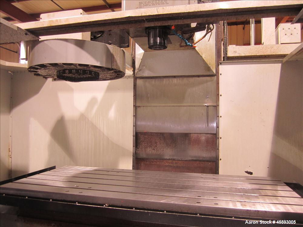 "Used-1998 Haas model VF-6 vertical machining centre, (20) station tool changer, 30"" x 60"" table, 20 HP Vector drive, CNC con..."