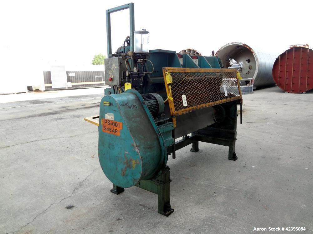 "Used- Wysong Power Squaring Shear, Carbon Steel. 72"" Wide Cutting Length. Driven by a 5hp, 3/60/230/460 volt, 1740 rpm motor..."