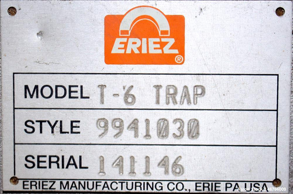Used- Eriez Magnetic Ferrous Trap, Model T-6, 304 Stainless Steel.