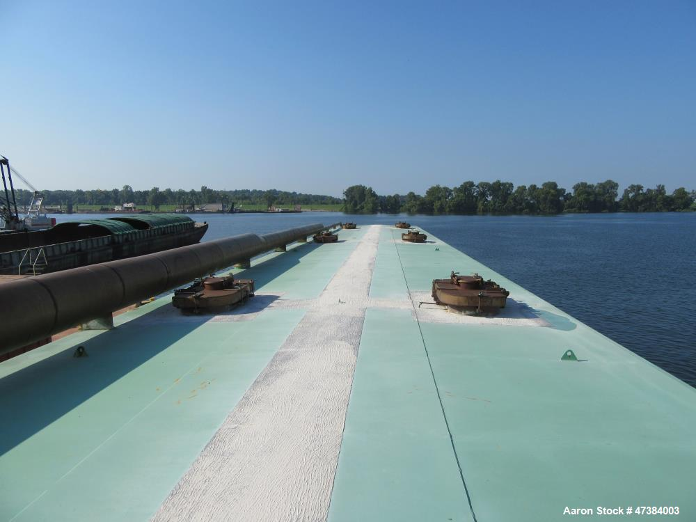 Used-Independent Tank Barge Approximate 200 x 35 x 12. Consisting of: (6) Mueller Tanks, 45,000 Gallon, Model H, Stainless S...