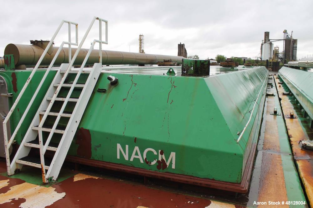 Used- Shearer-Group - Independent Tank Barge. Double Hull Hopper Barge with Cover. Approximate 35' wide x 200' long x 12' dr...