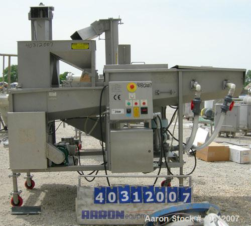 """Used-Stein breading applicator, model E-24J, 304 stainless steel. """"J"""" configuration. Breader capacity 50-90 pounds. 25"""" wide..."""