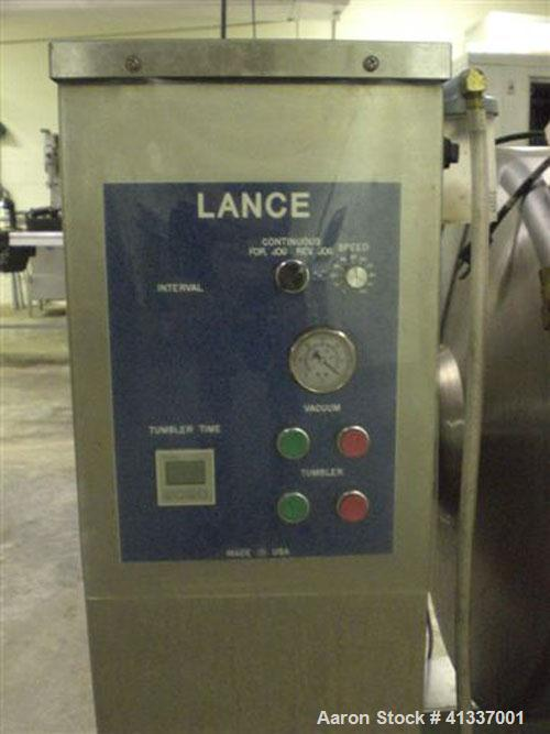 Used-Lance LT30 vacuum massage tumbler, 500 lbs. Manufactured 2007. Less than 10 hours.