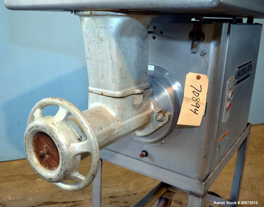 Used- Hobart Stainless Steel Meat Grinder, Model 4146