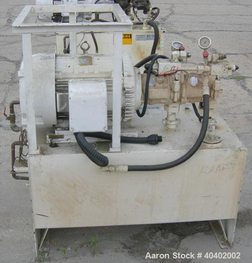 """Used- Marlen Research pump, model OPTI 220, 316 stainless steel. (2) Approximately 8 1/2"""" diameter pistons. Top feed with ho..."""