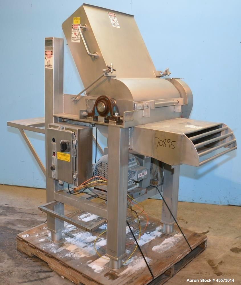 Used- Reiser Rotoclaw II Stainless Steel Frozen Meat Block Breaker Flaker