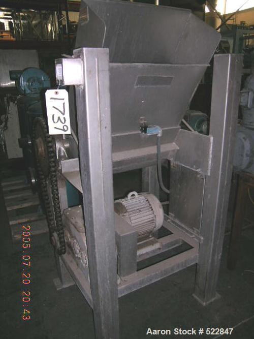 """USED: Rotoclaw II frozen meat flaker, model C-299. Handles frozenblocks of meat up to 9.5"""" thick and 21"""" wide. Production ra..."""
