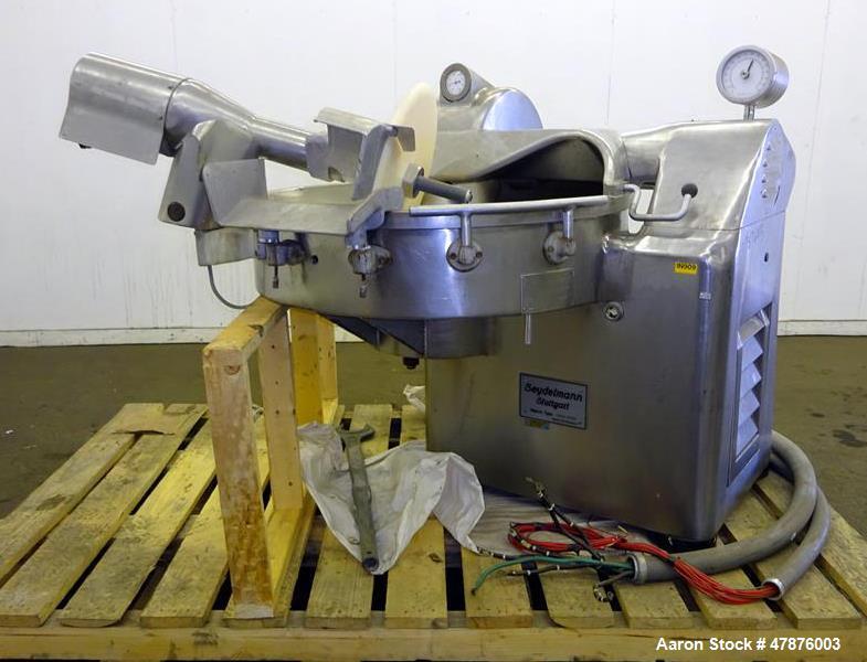 Used- Seydelmann Bowl Cutter, Model K123S, 430/40 Stainless Steel.