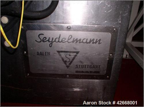 Used-Seydelmann Bowl Chopper, Model K750. Stainless steel bowl chopper, 125 hp main motor, 7.5 hp motor for the bowl and hyd...