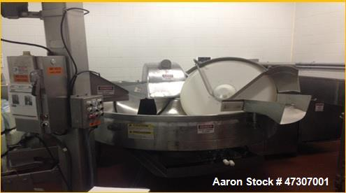 Used- Seydelmann Bowl Chopper, Model K750 Rash. 460 volts, 1800 rpm, 169 Amps. Includes spare set of blades and Afeco bin lo...