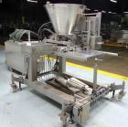 Used- NuTEC Manufacturing Hydraulic Provatec 745 Patty Forming Machine. Approximately 15 to 65 strokes per minute, varies on...