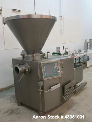 Used- Vemag Vacuum Filling / Stuffer. Model HP15(E), USDA / Dairy design with 250 Liter, stainless steel, hopper, built in v...