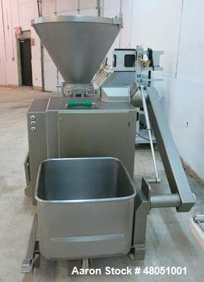 Used- Vemag Vacuum Filling / Stuffer. Model HP15(E), USDA / Dairy design with 250 Liter, stainless steel, hopper, built in v...