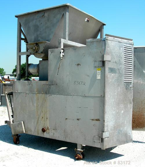 """USED: Weiler Agitated Self-Feeding Grinder, model 1109. 304 stainless steel. Approximately 50 cubic foot tub with a 16"""" diam..."""